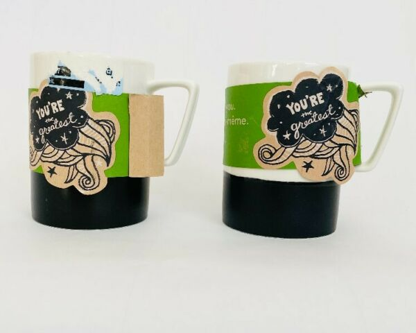 NWT 2 Starbucks Cups 2013 YOU#x27;RE the Greatest Made By You 16 oz Art Coffee Mugs