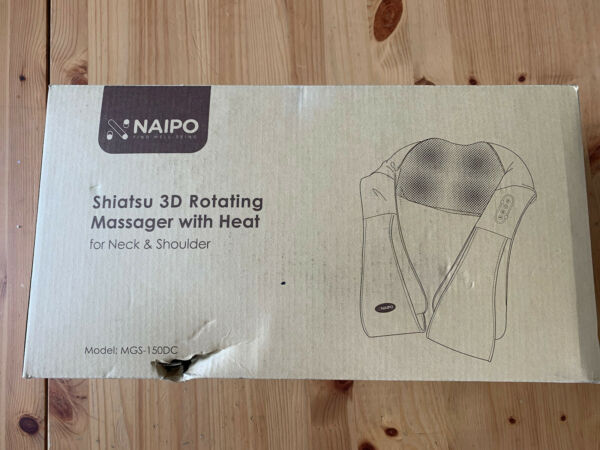 Naipo Shiatsu 3D Rotating Massager With Heat For Neck amp; Shoulder $27.99
