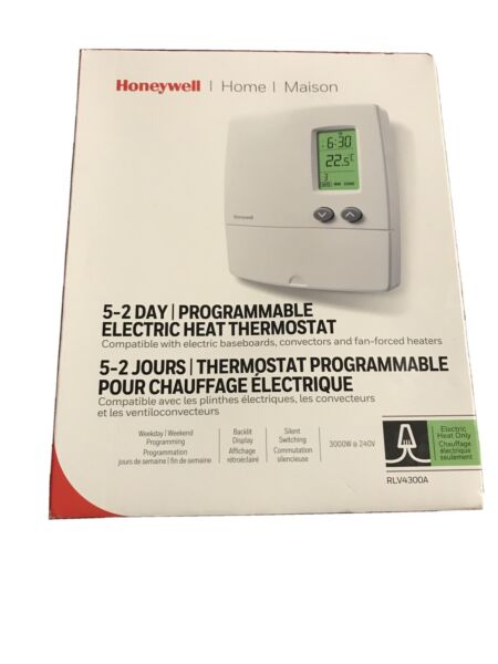 Honeywell 5 2 Day Programmable Electrical Heat Thermostat $10.00