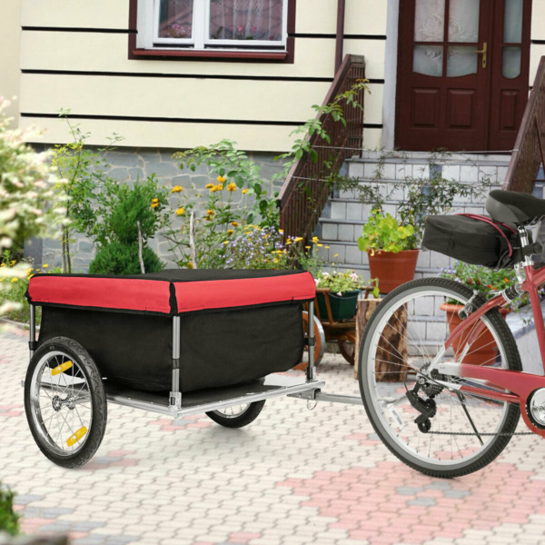 Bike Cargo Luggage Trailer w Folding Frame amp; Quick Release Wheels Outdoor NEW $136.99