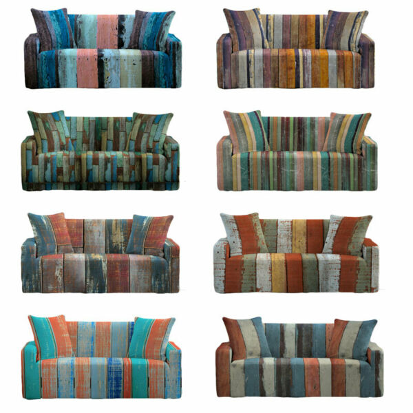 Paisley Striped Sofa Covers Furniture Slipcovers Furniture Covers Stretch Print $27.44
