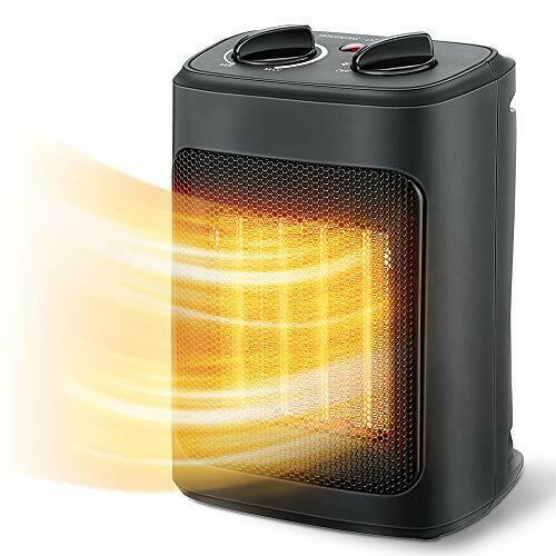 Aikoper Space Heater 1500W Electric Heaters Indoor Portable with Black