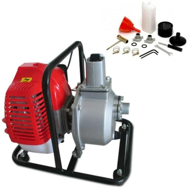 2 Cycle Gas Powered Water Transfer Pump 2 HP 2 Stroke