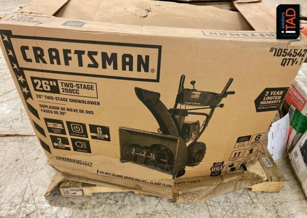 Craftsman SB450 26 in. Two Stage Self Propelled Gas Snow Blower w Electric Start