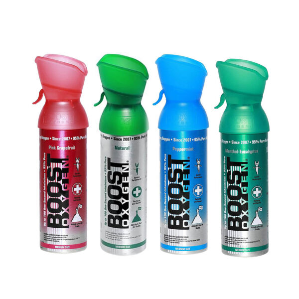 Boost Oxygen Natural Portable 5 Liter Pure Oxygen Variety Canister 4 Pack $37.96