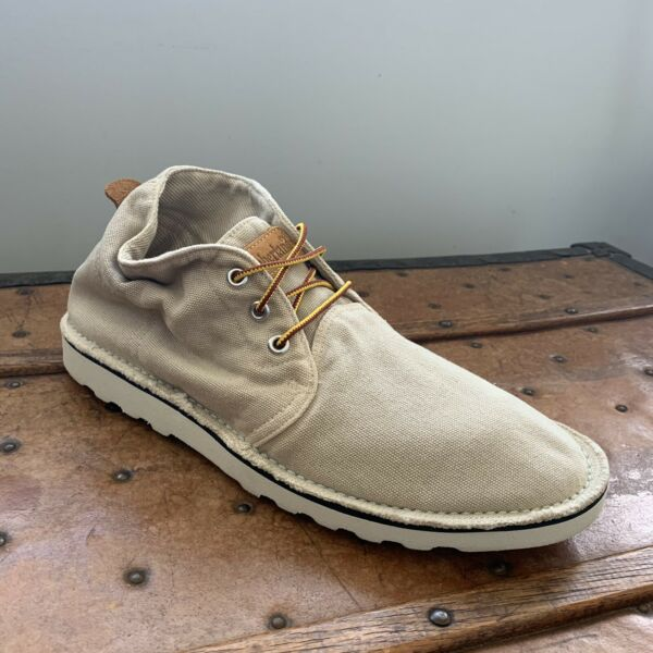 Timberland Earthkeepers Canvas Ankle Boots Men's Size 8 M Tan Natural Color $50.00