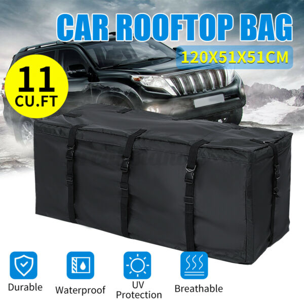 Waterproof Car Roof Top Bag Storage Cargo Carrier Luggage Truck Outdoor Camping $28.22