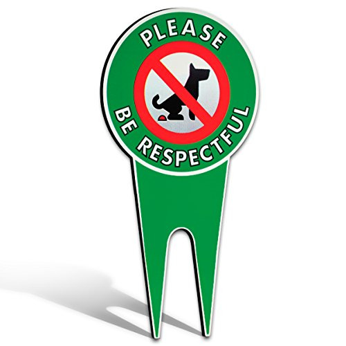 No Poop Dog Signs Stop Dogs from Pooping On Your Lawn Sign Politely Reads: $15.97
