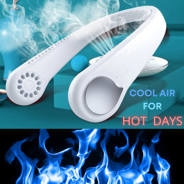 Summer Air Cooling Neck Hanging Fan 2 in 1 Air Cooler Mini Electric Conditioner $31.49
