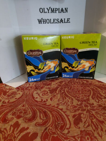 🍵Keurig Green Tea Decaf 2 boxes 24 cups each BB 6 2021 Free Shipping🍵