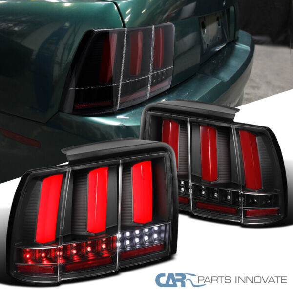 For 99 04 Ford Mustang Red Rear LED Bars Sequential Signal Tail Lights GT SVT