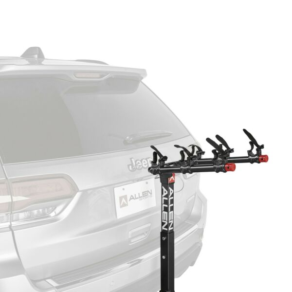 3 Bicycle Foldable Trailer Hitch Mounted Bike Rack Carrier Powder coated For Car $97.84