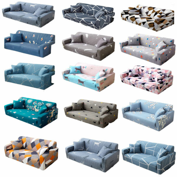 1 2 3 4 Seater Vintage Sofa Furniture Covers Slipcovers Stretch Couch Recliner $49.99
