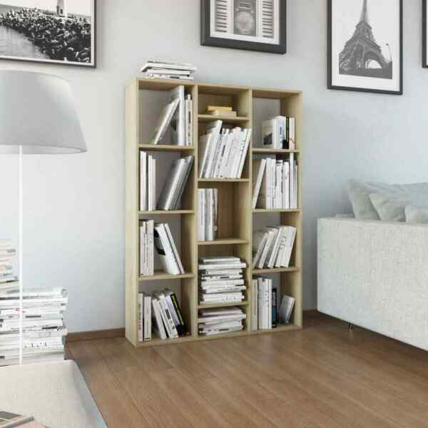 55quot; Wood Bookcase Storage Shelving Book Bookshelf Display Shelves Home Office $142.99