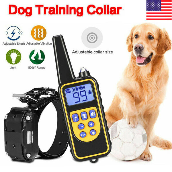 Waterproof Dog Shock Collar With Remote Electric for Pet Training 880 Yards IP67 $23.89