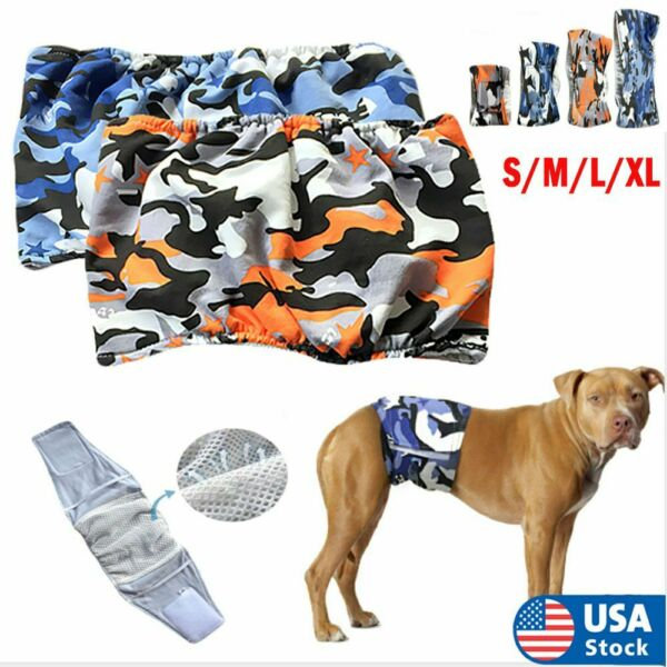 S XL Pet Male Dog Belly Band Wraps Washable Diapers for Small and Medium Dogs US $9.29