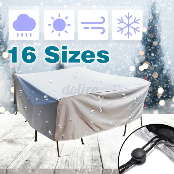 Dustproof Patio Furniture Covers Waterproof Rectangle Table Rain Cover Outdoor