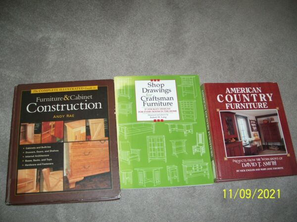 Complete Illustrated Guide to Furniture Construction amp; Country Furniture 2 Books $17.96