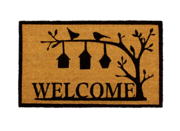 Natural Coir Door Mats Welcome Mat Birds 18quot; X 30quot; Outdoor Mats