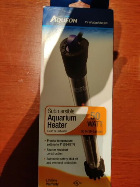 Aqueon Submersible Aquarium Heater 50 Watt for Aquariums up to 20 Gallons $26.99