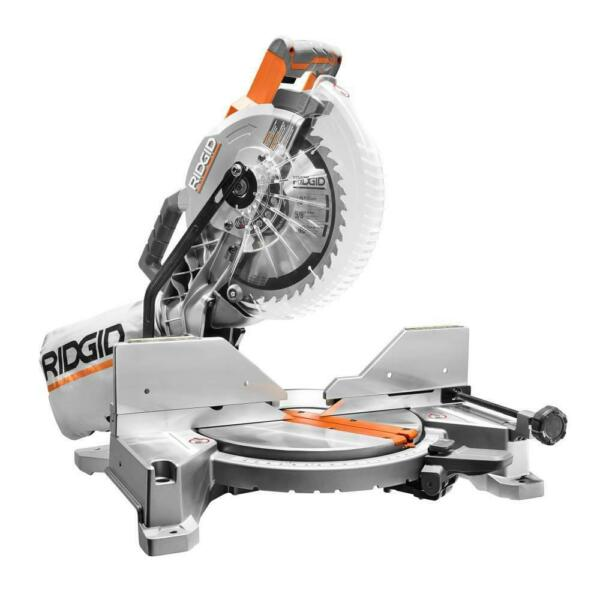 RIDGID R4113 15 Amp 10 in. Dual Miter Saw with LED Cut Line Indicator