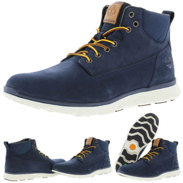Timberland Killington Men#x27;s Nubuck Leather Lace Up Mid Chukka Boots $77.99