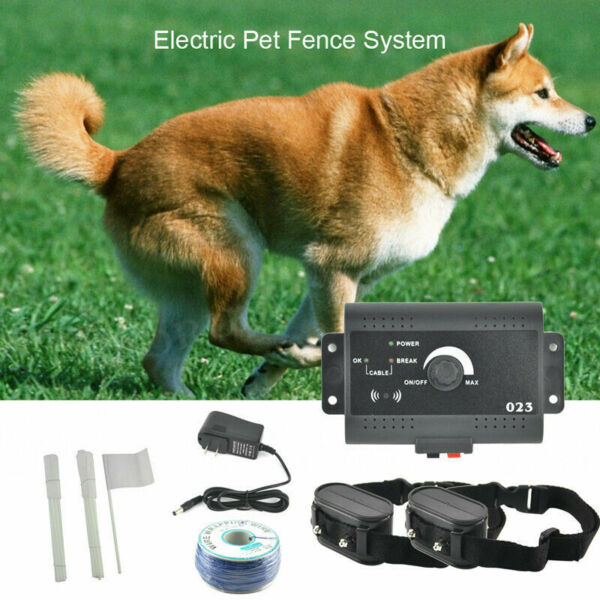 Wireless Underground Electric Dog Pet Fence System Shock 2 Collars Waterproof
