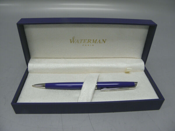 GENUINE WATERMAN HEMISPHERE BALLPOINT PEN BLUE OBSESSION COLLECTION NEW IN BOX