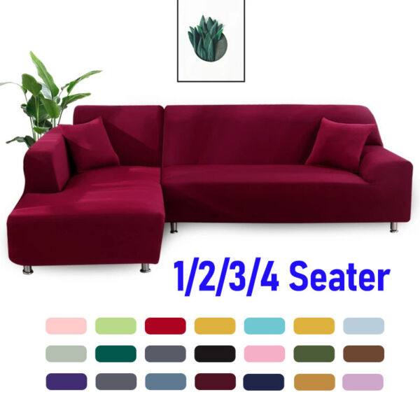 Armchair Sofa Slipcovers Sectional Corner Couch Covers Elastic Stretch Protector $32.11