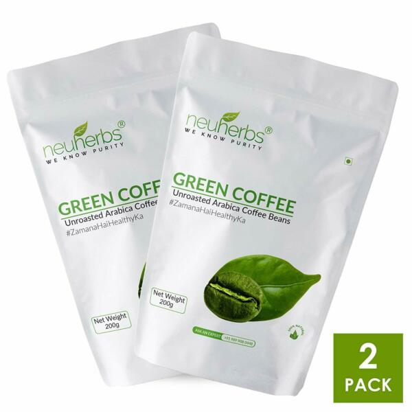 Neuherbs Organic Green Coffee Beans for weight Loss 200g Pack of 2 US
