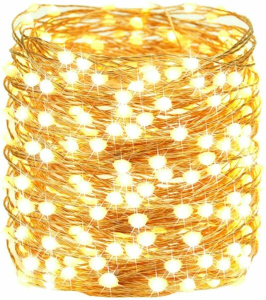65.6FT 200LED Clip Copper String Lights Patio with Remote USB 8Mode Fairy Lights $11.30