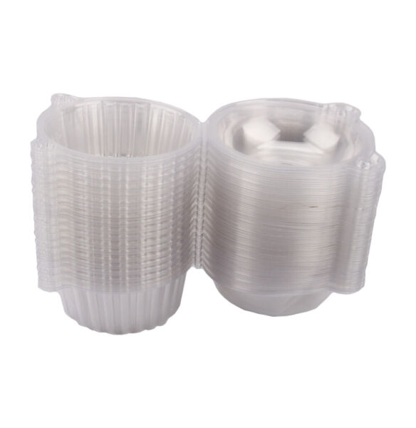100pcs Clear Plastic Cupcake Boxes Cake Packing Boxes Muffin Pod Dome Box