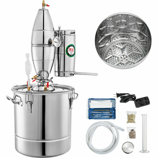 8G 30L Alcohol Distiller Moonshine Still Boiler Wine Brewing Kit Stainless Steel $163.90