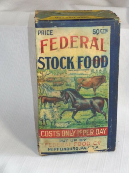 Old Federal Stock Food Farm Animal Feed Mifflinburg PA A