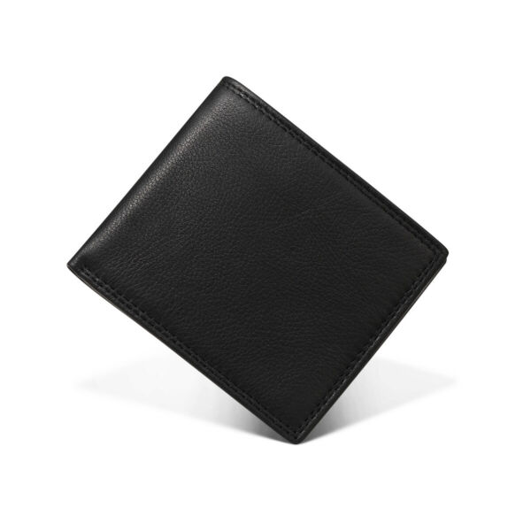 Bifold Short Leather Wallet for Men Women RFID Blocking Wallets Money Clip