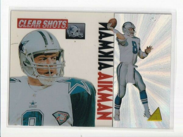 1995 Pinnacle Clear Shots Hall of Famer Troy Aikman