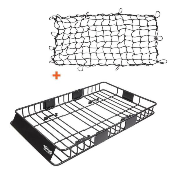 64quot; Roof Rack Cargo Top Luggage Holder Carrier Basket with Extension Travel Net $135.75