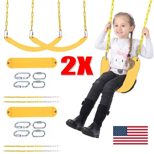 2Pack Heavy Duty Swing Seat Swing Set Accessories Kids Play Outdoor Replacement $41.99