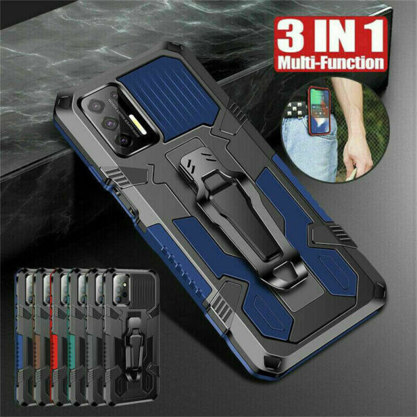 For Motorola Moto G Stylus 2021 Heavy Duty Rugged Armor Clip Stand Case Cover