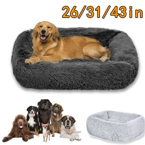 Easy to clean Dog Beds Plush Large Warm Dog Cat Puppy Sleeping Mat Cushion Cozy $26.99