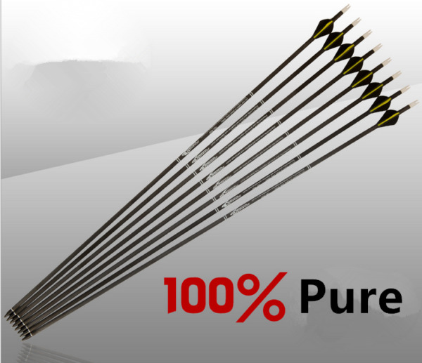 31quot; Pure Carbon Arrow Archery Hunting for Spine 300 400 CompoundBow Recurve Bow $45.99