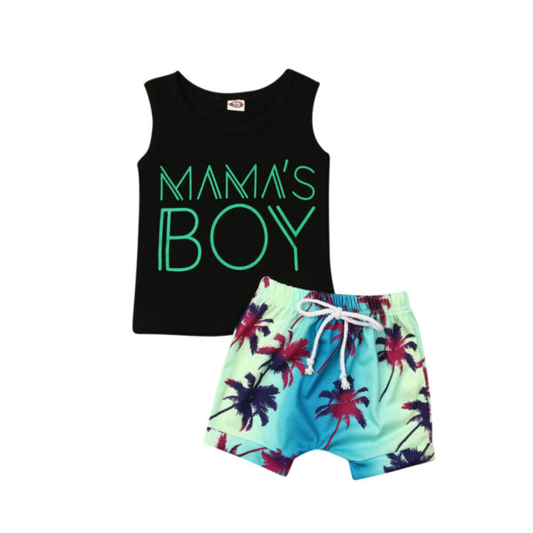 US Toddler Baby Boy Casual Clothes Letter Tops T Shirt Shorts Summer Outfits Set