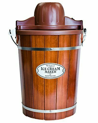 Nostalgia Electric Bucket Ice Cream Maker With Easy Carry Handle Makes 6 Quarts $83.52
