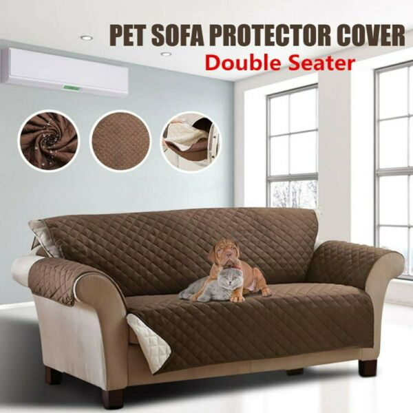 2 Seater Waterproof Sofa Cover Couch Chair Slipcover Furniture Protector Pet Mat $9.99