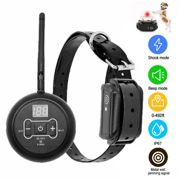 Wireless Electric Dog Fence Containment System Shock Collar Waterproof For 1 Dog