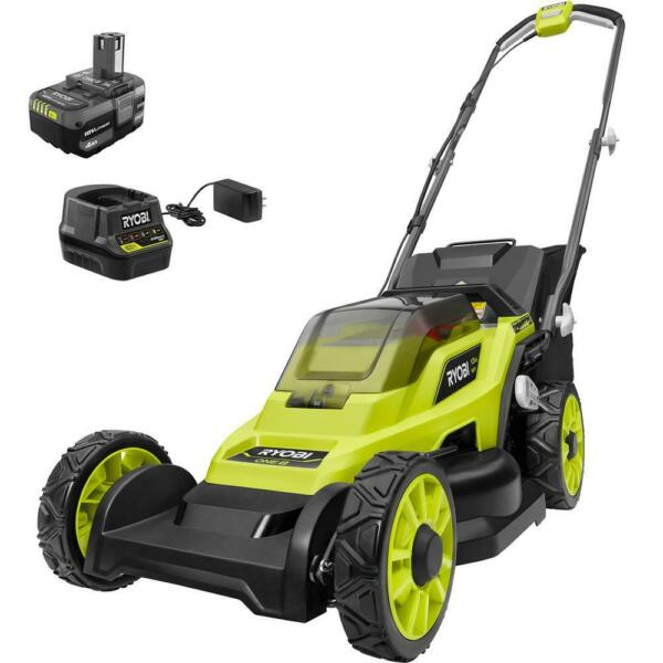 RYOBI 13 in. ONE 18 Volt Lithium Ion Cordless Battery Walk Behind Push Lawn $139.00