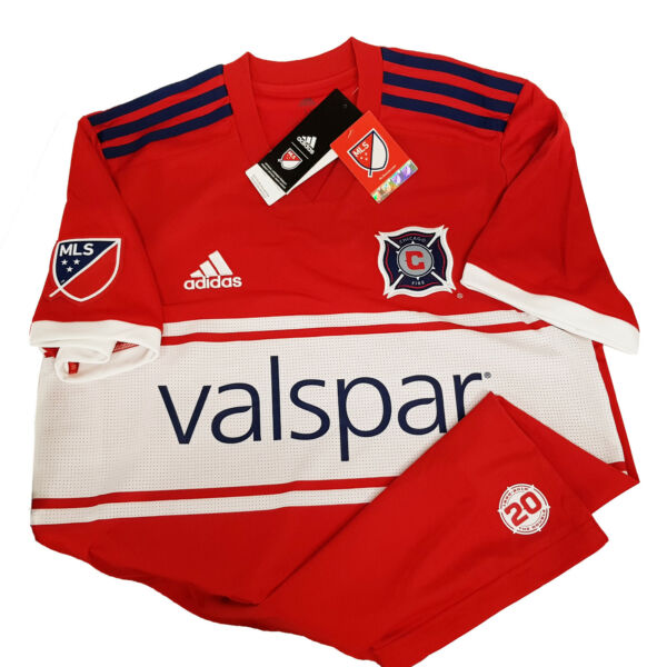 Adidas MLS Chicago Fire Home Men#x27;s Jersey Red White