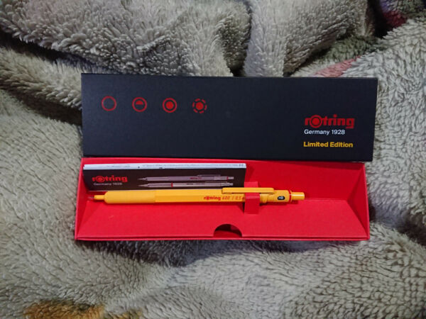 rotring 600 0.5mm Mechanical pencil limited edition color yellow Japan limited