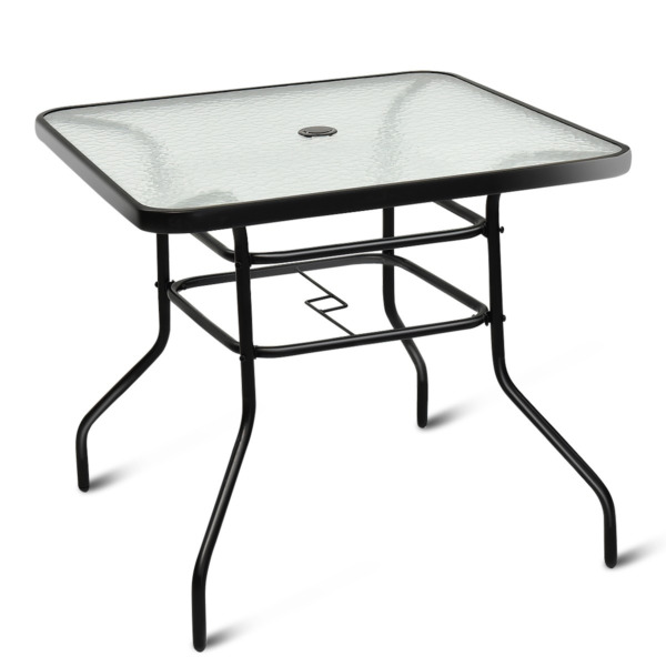 32quot; Patio Square Table Tempered Glass Steel Frame for Outdoor Pool Yard Garden $126.99