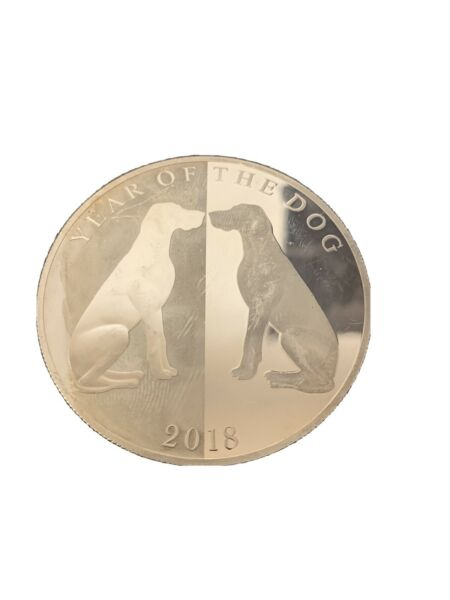 2018 year of the dog silver coin. Tokelau Pure Silver 999. Montage 500 $110.00